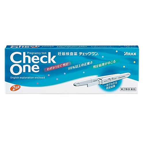 【第2類医薬品】<br>[アラクス]<br>妊娠検査薬 チェックワン 2回用
