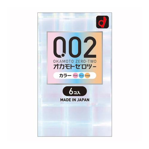 [オカモト]<br>うすさ均一 0.02 EX カラー 6個入