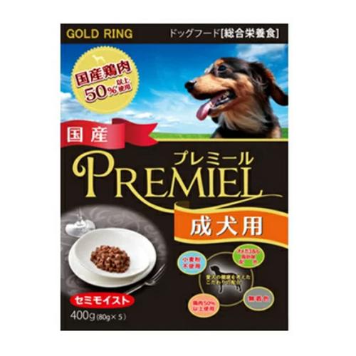 [三井食品]<br>ゴールドリング プレミール 成犬用 80gk×5袋入