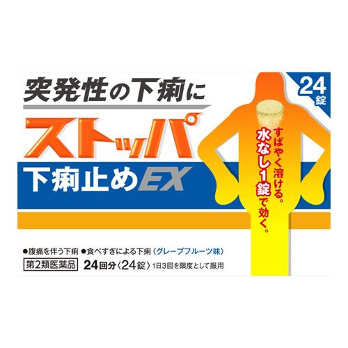 【第2類医薬品】<br>[ライオン]<br>ストッパ下痢止めEX 24錠