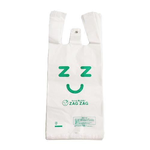ZAG ZAG(ザグザグ) レジ袋 極小 25号 乳白色 100枚入