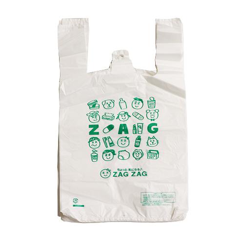ZAG ZAG(ザグザグ) レジ袋 小 35号 乳白色 100枚入