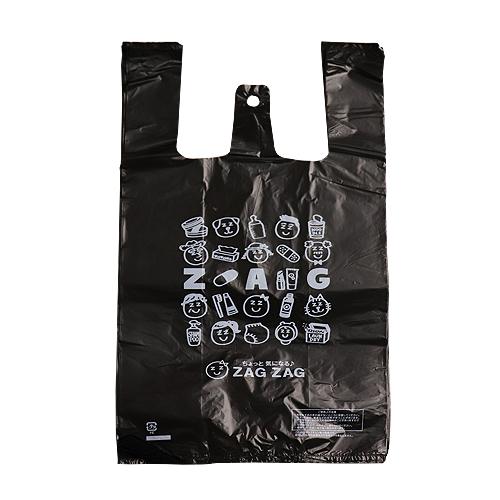 ZAG ZAG(ザグザグ) レジ袋 小 35号 黒色 100枚入