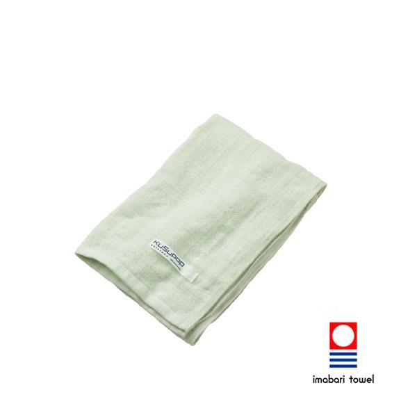 【今治タオル】<br>KuSu POP paletone 3重ガーゼフェイスタオル グリーン (1-60070-31-G)