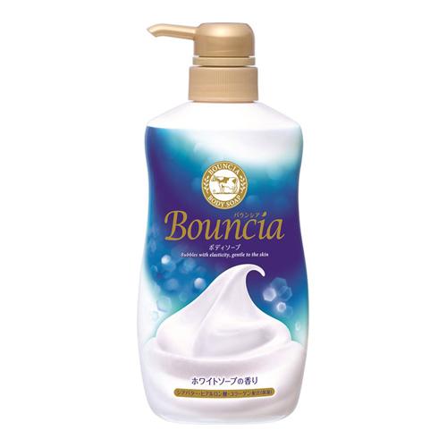 【数量限定】<br>[牛乳石鹸]<br>バウンシア ボディソープ ホワイトソープの香り ポンプ 500ml