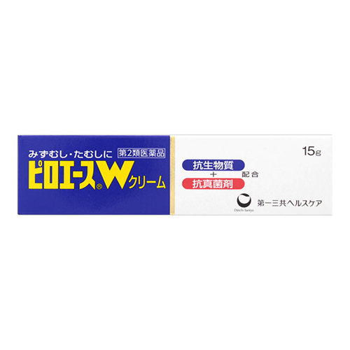 【第2類医薬品】<br>[第一三共ヘルスケア]<br>ピロエースWクリーム 15g