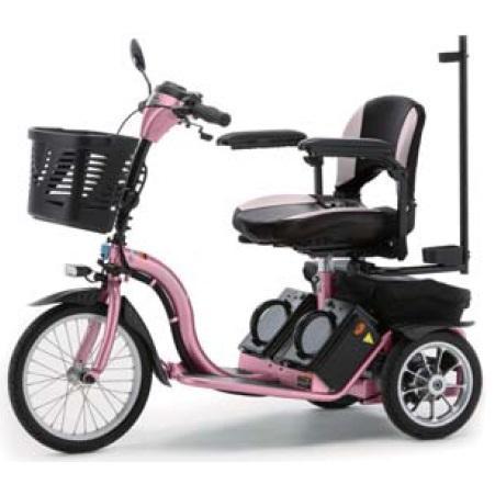 ■代引き不可■<br>[フランスベッド]<br>リハテック 電動三輪車いす スマートパル (S637PI)<br>同梱不可キャンセル不可[送料無料]