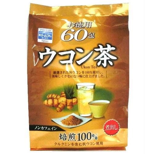 【数量限定】<br>[オリヒロ]<br>ウコン茶 お徳用 1.5g×60包<br>[アウトレット] <br>(賞味期限:2019年5月11日まで)