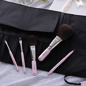 [晃祐堂]<br>熊野筆 化粧筆灰リス5本セット