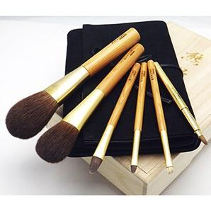 [晃祐堂]<br>熊野筆 赤リス屋久杉軸化粧筆6本セット