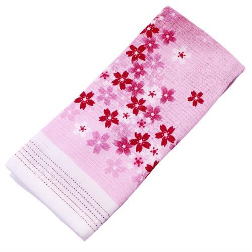 布ごよみ フェイスタオル しだれ桜 ピンク 32932 (33×100cm)