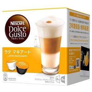 [ネスレ]<br>ネスカフェ ドルチェグスト 専用カプセル ラテマキアート 8杯分(コーヒーカプセル8個、ミルクカプセル8個)LAM16001