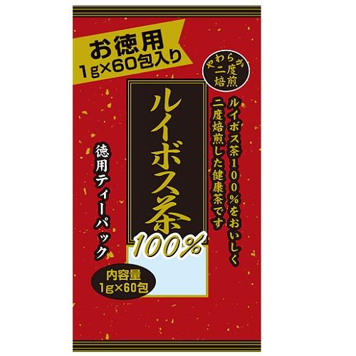 [ユウキ製薬]<br>徳用二度焙煎ルイボス茶 1g×60包