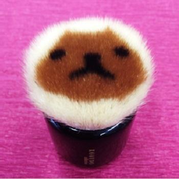 【数量限定】<br>[晃祐堂]<br>カピバラさん 熊野化粧筆
