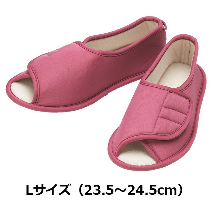 たんぽぽ日和 ルームシューズ用 ピンク Lサイズ 6008/T-008