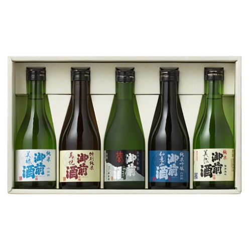 [辻本店]<br>御前酒 飲みくらべセット 300ml×5本入 (GNK-32)