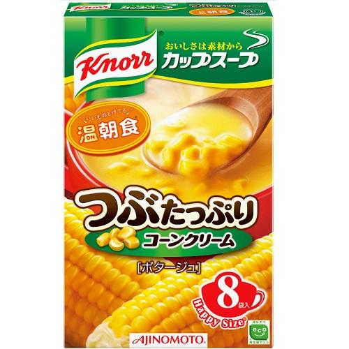 [味の素]<br>クノール つぶたっぷりコーンクリーム 8袋入<br>【おひとり様6個まで】