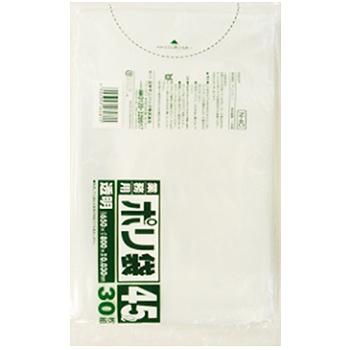 45L ゴミ袋 透明 0.03mm 30枚入 (N-4C)