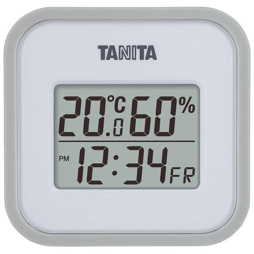 [タニタ]<br>デジタル温湿度計 グレー (TT-558-GY)
