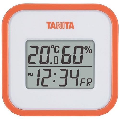 [タニタ]<br>デジタル温湿度計 オレンジ (TT-558-OR)