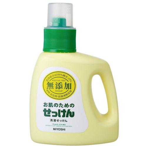[ミヨシ石鹸]<br>無添加 お肌のための洗濯用液体せっけん 1.2L