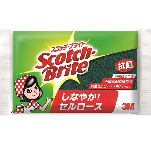 [3M]<br>スコッチブライト 抗菌セルローススポンジたわし
