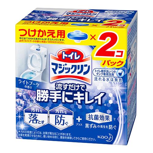 [花王]<br>トイレマジックリン 流すだけで勝手にキレイ ライトブーケの香り つけかえ用 80g×2コパック
