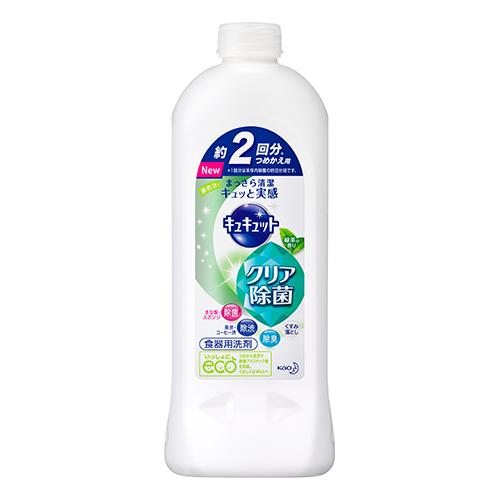 [花王]<br>キュキュット クリア除菌 緑茶の香り 詰替え 385ml<br>【おひとり様4個まで】
