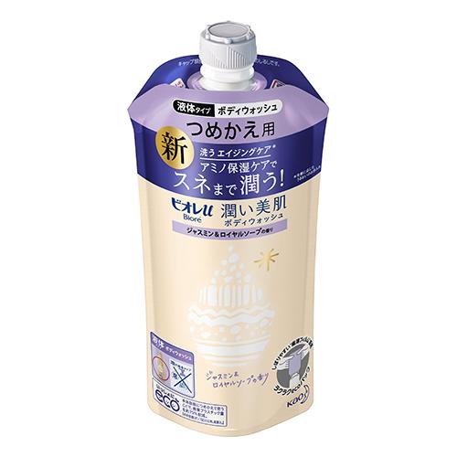 [花王]<br>ビオレu 潤い美肌ボディウォッシュ ジャスミン&ロイヤルソープの香り 詰替え 340ml
