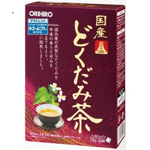 【数量限定】<br>[オリヒロ]<br>国産どくだみ茶100% 1.5g×26袋入<br>[アウトレット]