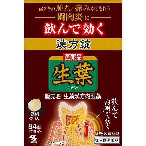 【第2類医薬品】<br>[小林製薬]<br>生葉漢方錠 84錠