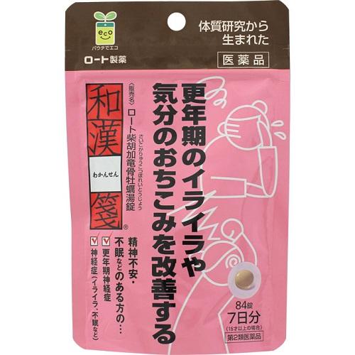 【第2類医薬品】<br>[ロート製薬]<br>和漢箋 ロート柴胡加竜骨牡蠣湯錠 84錠