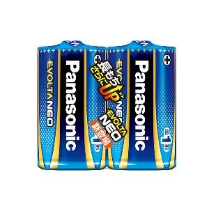 [パナソニック]<br>エボルタネオ 単1形 単1電池 2本パック (LR20NJ)