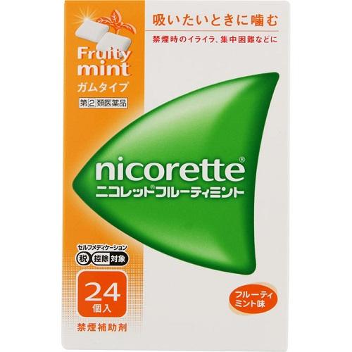 【第(2)類医薬品】【セ税】<br>ニコレット フルーティミント 24個