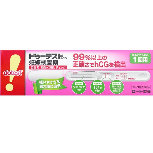 【第2類医薬品】<br>ハピコム ドゥーテスト hCG 1回用