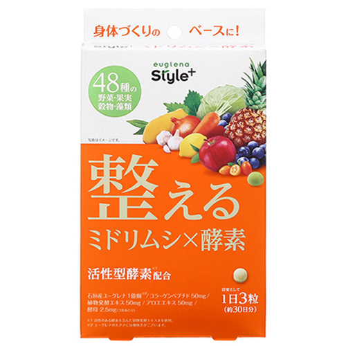 [ユーグレナ]<br>ユーグレナスタイル+ 整える ミドリムシ×酵素 30日分