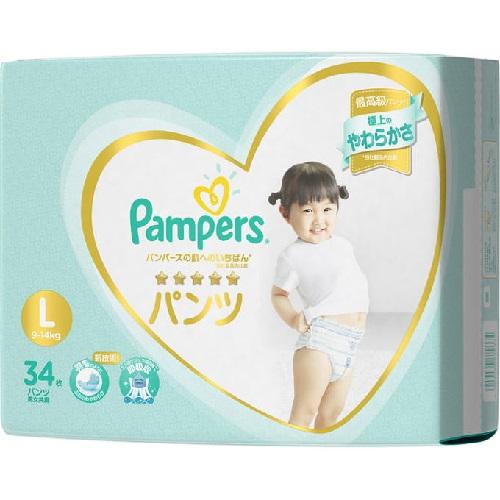 [P&G]<br>パンパース 肌へのいちばん パンツ Lサイズ 34枚