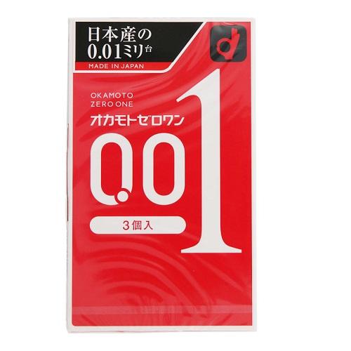 【数量限定】<br>[オカモト]<br>ゼロワン 0.01ミリ 3個入