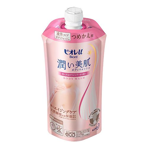 [花王]<br>ビオレu 潤い美肌ボディウォッシュ ローズ&ホワイトブーケの香り 詰替え 340ml