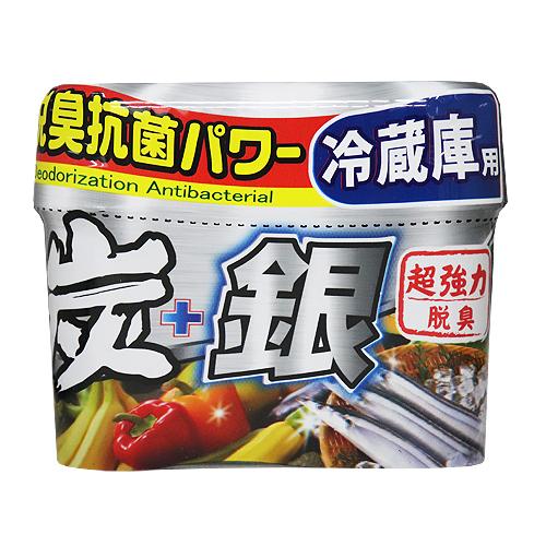 炭+銀 冷蔵庫用脱臭剤 150g