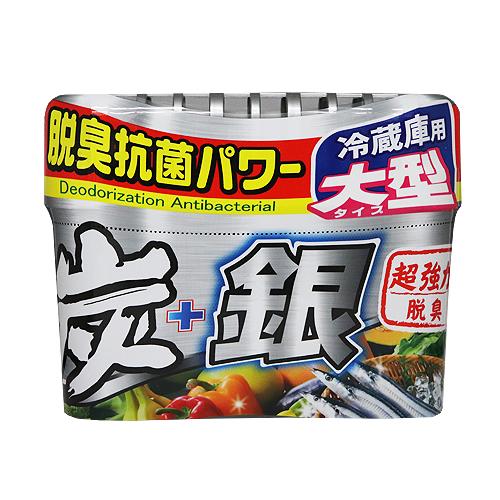 炭+銀 冷蔵庫用脱臭剤 大型 250g
